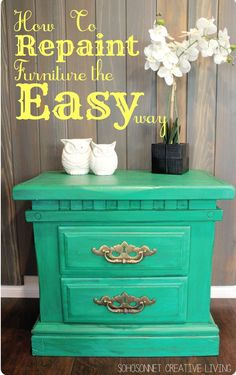 Great weekend project idea for any old furniture that needs a little pick-me-up!