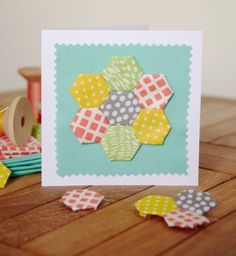 Give Handmade: 12 Awesome Mother's Day Craft Tutorials You Must Try: Patchwork Mother's Day Card