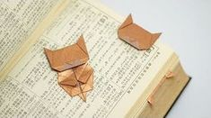 How-To: Origami Cat BookmarkOrigami cat bookmark! moreHow-To: Origami Cat Bookmark Origami cat bookmark! Origami Design, Diy Origami, Mobil Origami, Gato Origami, Origami Simple, Origami Ball, Origami Butterfly, Useful Origami, Origami Stars