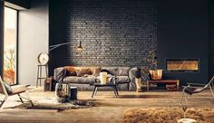 17 Surprisingly Versatile Interior Brick Wall Designs : Industry Standard Design