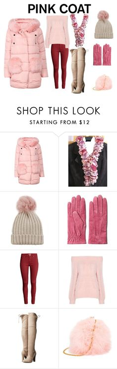 """""""Pink Coat"""" by belladonnasjoy ❤ liked on Polyvore featuring Jocelyn, GANT, H&M, Steve Madden and pinkcoats"""