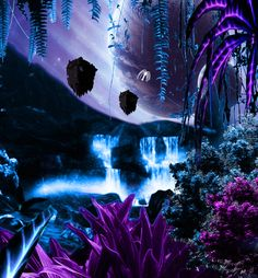 The forests of Pandora (Avatar) I don't think I've ever seen a prettier planet/moon on TV.