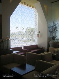 Delia Shades -Candice Olsen used white pattern blinds in photo