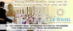 Le Soleil Events Catering Services in Qatar For More Information: http://www.ezyqatar.com/business_details/MTc4ODA=