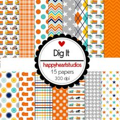 DigitalScrapbook Dig It INSTANT DOWNLOAD by azredhead on Etsy