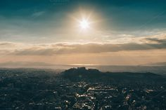 Sunset over the Athens #3 by Walking Blonde on Creative Market