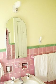 Love This Pink Bathroom!