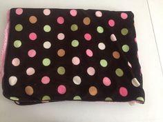 Circo Pink Green And White Polka Dot Baby Blanket Sherpa Target Dots    eBay