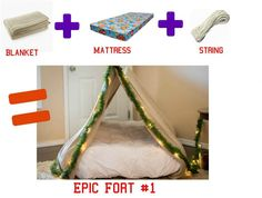 3 {easy} DIY forts using household items