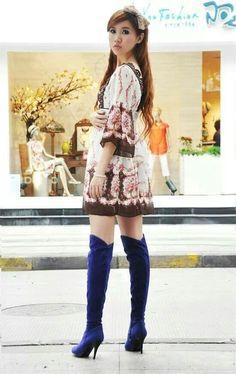 [PO/PESAN DULU, MIN.DP 50%, BARANG READY AKHIR MEI] KODE : Velvet Tall Boots-BLUE SIZE : 35-47 TINGGI HEELS : 8cm TINGGI BOOTS : 51cm LINGKAR PIPA BOOTS : 41cm PRICE : Rp.410.000,-  Ketentuan PO : - DP min 50% dari harga barang, paling lambat Tgl.14 April 2014 Jam 9 malam - Sisanya dilunasi saat brg sdh ready, harga blm termasuk ongkir, barang dikirim setelah lunas - Estimasi barang tiba akhir Mei, bisa lebih cepat bisa juga lebih lama, dimohon kesabarannya menunggu :) - NO CANCEL. Apabila…