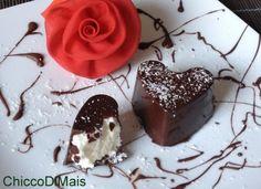 Cuori di cioccolato e cocco ricetta di San Valentino il chicco di mais