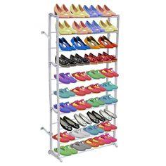 vidaXL Skohylle 10 etasjer Shoe Rack With Shelf, Shoe Storage Shelf, Rack Shelf, Closet Storage, Storage Room, Easy Storage, Shoe Organiser, Shoe Rack Organization, Wardrobe Organiser