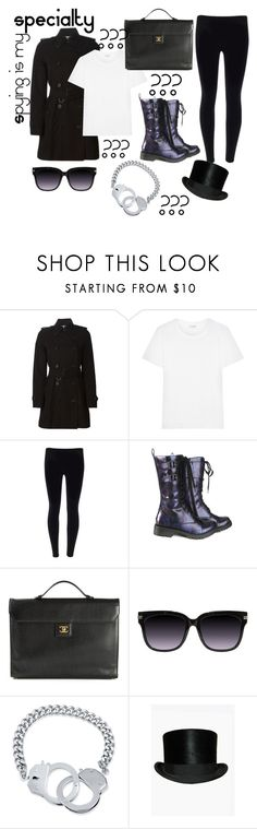 """Spying is my SPECIALTY"" by l-o-s-t-g-i-r-l ❤ liked on Polyvore featuring Burberry, Yves Saint Laurent, Volatile, Chanel and BERRICLE"