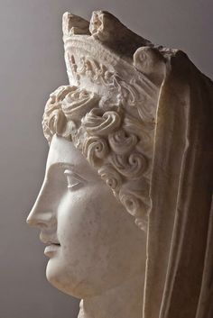 """marble so called """"Demeter Sagalassos"""" -  head of a colossal statue of Demeter ,  Roman period circa 110 – 150 CE, now Museum of Burdur, Turkey Ancient City, Ancient Rome, Ancient Greece, Roman Sculpture, Sculpture Clay, Stone Sculptures, Ancient Greek Sculpture, Greek Pantheon, Greek Gods And Goddesses"""