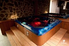 Privátní wellness Le Charm - vířivka, sauna, wellness. Realizace www.spa-virivky.cz