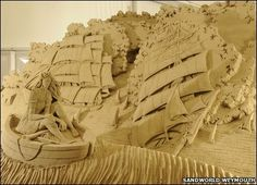 Sailing Ships - One of the creations at Sandworld in Weymouth, Dorset