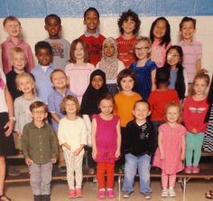 So my friend posted his daughter's class picture. Notice anything weird?