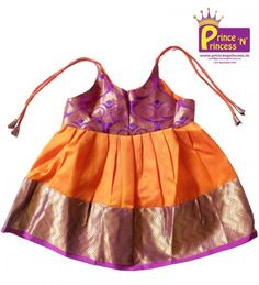 New Born Kids Pure Silk Frock for naming and cradle Ceremony