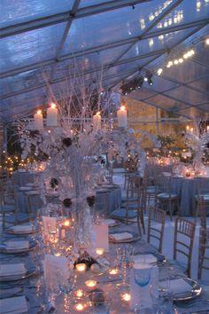 The perfect #winterwedding decor! #weddinginspiration #WinterWeddingStyle