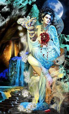 Tarot Apokalypsis....The High Priestess - Eric C. Dunne  --  If you love Tarot,visit me at www.WhiteRabbitTarot.com