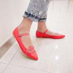 Mary Jane Low Heel Flats Women's Shoes(More Colors) – GBP £ 13.10