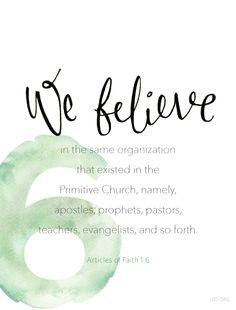 Article of Faith 1:6 #Faith
