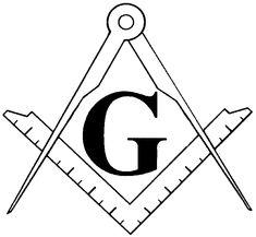 Masonic Clipart and Freemason Symbols - Square and Compasses