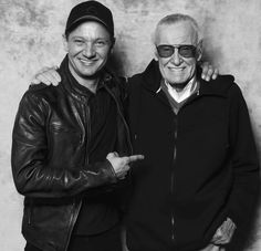 Jeremy Lee Renner and Stan Lee :)