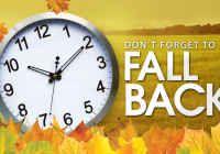 Daylight Saving Fall Back