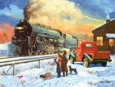 Going Home for Christmas Jigsaw Puzzle