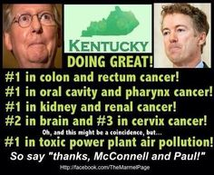 Smoking - huge tobacco state.  Coal mines with black lung big issues.