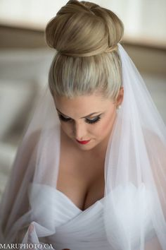 Wedding hair. Jenna @ Filomena Salon & Spa. Coquitlam, BC, Canada