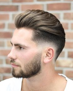 Low Skin Fade with Long Brush Back - Widow's Peak Hairstyles Click image to See More. Mens Hairstyles Widows Peak, Mens Hairstyles Fade, Cool Hairstyles For Men, Undercut Hairstyle, Hairstyle Short, Undercut Women, Hairstyles Haircuts, Best Short Haircuts, Haircuts For Men