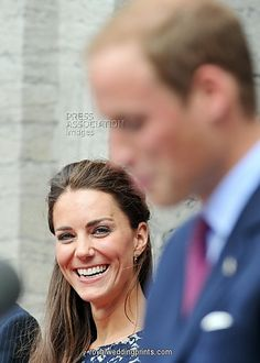 June 30, 2011 - The Duchess of Cambridge laughs as her husband, the Duke of Cambridge makes a speech outside the official residence of the Governor General of Canada, Rideau Hall in Ottawa, on the first day of their visit to the Commonwealth country.