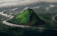 De Maelifell-vulkaan op IJsland