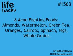 Fighting Acne ; 1000 Life Hacks. Careful with the whole grain, if you're gluten allergic!