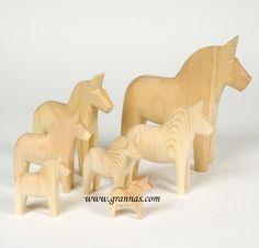 Carved wooden horse, for sale from Dalarna, Sweden. #dalahäst #sweden #woodwork