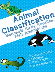 This packet covers animal classification. There are many fun activities to…