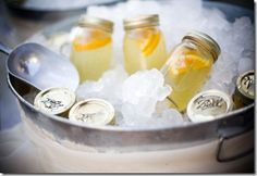 Mason Jar Beverages: Fun for a party!