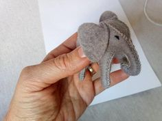 Mini wool felt elephant - wool stuffed key holder-wool stuffed animal - role play- gift for children - toy for boys - natural gift for boys Toys For Girls, Gifts For Girls, Diy Toy Storage, Natural Toys, Felt Patterns, Felt Animals, Gift For Lover, Felt Crafts, Wool Felt