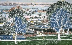 Kinmel Park Camp: M. Concentration Wing (Toronto) David Milne - Canadian Paintings in the Thirties Canadian Painters, Canadian Artists, Landscape Art, Landscape Paintings, Landscapes, Watercolor Techniques, Art Techniques, David Milne, Artistic Tree