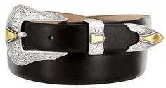Colorado Italian Calfskin Leather Designer Dress Belts for Men38 Smooth Black * You can find out more details at the link of the image.
