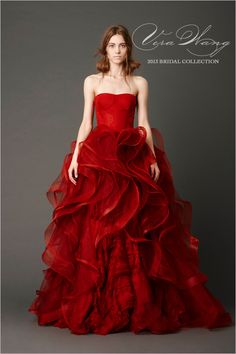 """Or have a red wedding in one of Vera Wang's spring gowns.   How To Throw A Gorgeous And Geeky """"Game Of Thrones"""" Wedding"""