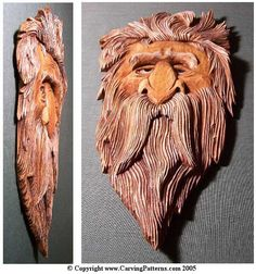 wood carving patterns | Carving the Relief Wood Spirit by L. S. Irish