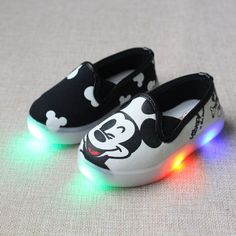 davidyue KT cat LED kids flat Children Shoes For Girls Baby Canvas Sneakers Minnie Mouse Sneakers Kids Shoes of Chaussure Enfant