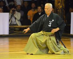 Among the final demonstrators of the day, Yamasaki Masahiro achieved 8-Dan in 1988 and serves on the governing board of the AJKF Iaido Division.