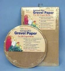 Penn Plax 14-Inch Calcium Plus Round Gravel Paper for Bird Cage This Gravel Paper is made with sea shells for a natural add of calcium to your bird's diet. Gravel sheets provide grit for your hard-billed birds and aids in digetstion.. Safe, clean and sanitary for the use of all birds..  #Penn-Plax #Pet_Products