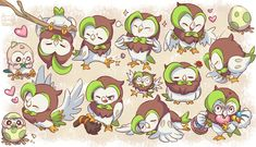 Rowlet and Dartrix