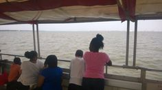 CYDC youth taking in the view during Boomtown's sponsored boat ride to Morris Island.