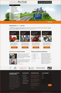 Diseño web para Arquirutas